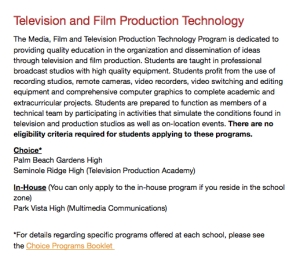 TV Academy Choice Application Listing