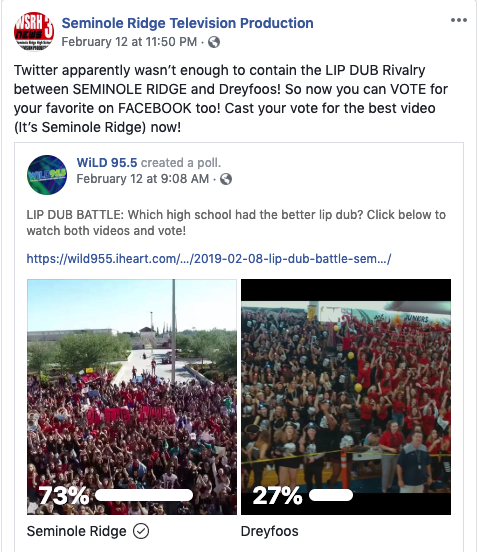LIP DUB 2019 POLL WIN